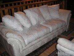 Olasz exkluziv  brokát huzatos moder sofa235x90x40cm ülőmaga