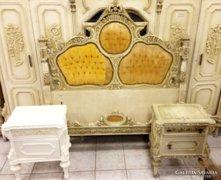 Antik faragott kastély hálószoba garnitúra