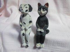 Kutya & Cica polcdísz 11 cm.