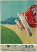 Art deco autóverseny poszter reprodukció
