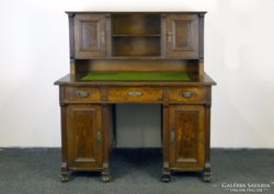 5498 Antik felépítményes ónémet íróasztal