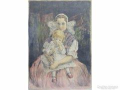 0E265 Prihoda István : Anya gyermekével