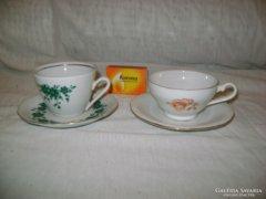 Mokkás csésze szett - két darab - együtt eladó