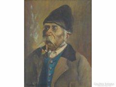 0E334 Markovits István (1882-): Pipázó paraszt