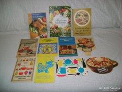 Régi, retro szakácskönyv, füzet - 11 darab - együtt eladó