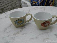 Virág mintás kedves vastag falu kávés csésze pár