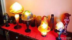 Szecessziós stílusú 14 TIP GALLE vázak es lampak kollecio