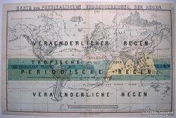 Térkép, Karte zur Physicalischen Erdbeschreibung. Der Regen.