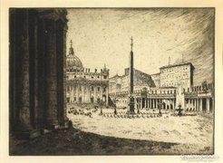 Krón Béla : Római tér 1925