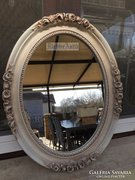 Provence bútor, antikolt fehér tükör 41.
