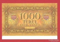 1000 turul 2010. Sorszám nélküli, ívszéles!! UNC!  RITKA!
