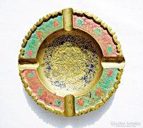 Indiai, színes, kidolgozott hamutartó