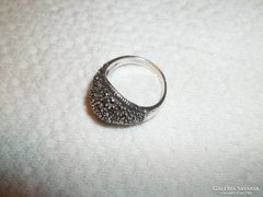 Markazitköves ezüst gyűrű