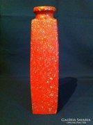 Retro narancssárga Tófej kerámia váza 30 cm