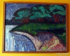 Bartos Endre csodás festménye  60 x 80 cm