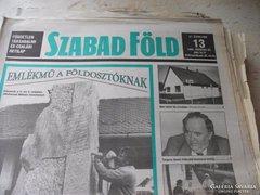 Szabad Föld Független Társadalmi és Családi Hetilap 1994-95!
