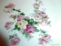 Gyönyörű régi rózsás tányér