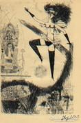 A balerina  (szürreális nyomat)