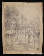Helbing Ferenc: Flamingók