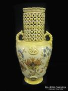 Zsolnay virágdekoros váza
