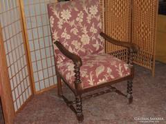 Antik csavaros lábú karfás szék, fotel eladó!