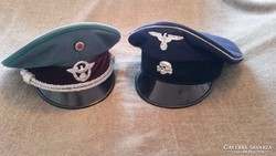 Repró Polizei és Waffen-SS sapka