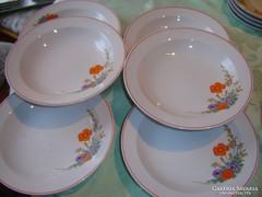 Pipacso csodaszép  hollóházi mély tányérok