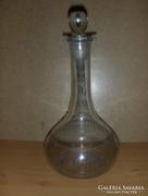 Retro, csiszolt üveg kiöntő dugóval (fp)
