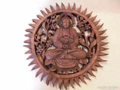 Faragott Buddha falidísz
