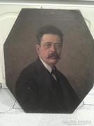 Steiner Rezső (Della Pietra): Soproni portré festménye