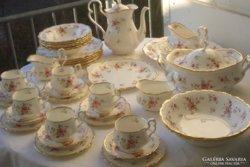 Angol Royal Albert porcelán+arany evőeszköz ét/teás/kávés/
