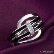 Különleges fazonú gyűrű 7-es méret ÚJ!