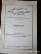 MOSON MEGYEI NÉMET LAKODALMAS SZOKÁSOK 1931