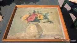 Vlasics Károly festmény: Mezei virágok