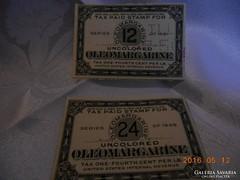 2 db /1931 Margarine Jegyek