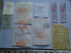 D137589 VOLÁN MÁV jegyek bérletjegyek