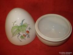 Herendi porcelán csipkebogyós tojás bonbonier