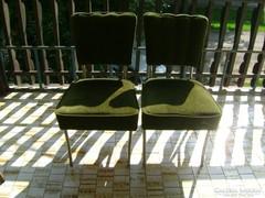 Két darab régi, fémvázas szék együtt eladó