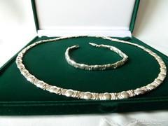 Mutatós ezüst ékszer szett
