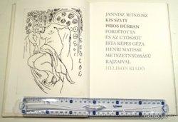 Matisse metszeteivel díszitett Ritszosz kötet