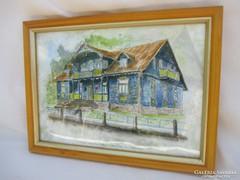Nikifor festő háza 23 x 17 cm.