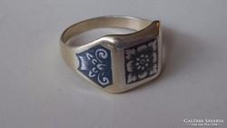 Ezüst Orosz 875 niellós gyűrű