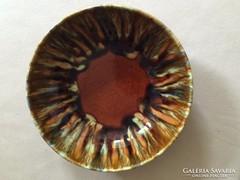 Gránit: barna tál,kínáló, asztalközép