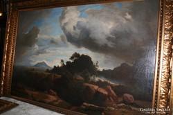 J. Wilhelm Schirmer után ismeretlen festő:Stürmischer Abend