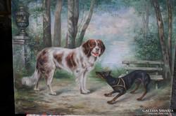 OSC Sturm jelzéssel :Kutyák a parkban 1900.
