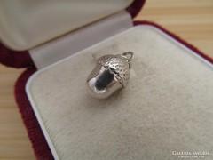 Régi makk ezüst medál - vadász ékszer