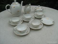 Cseh porcelán kávéskészlet