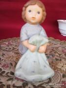 Akció! Hummel  figura kislány párnával Goebel 0607/1