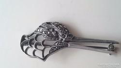 Antik ezüst 835ös bross kitűző