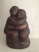 Gyönyörű jelzett szobor, art design ceramic sculptur signed